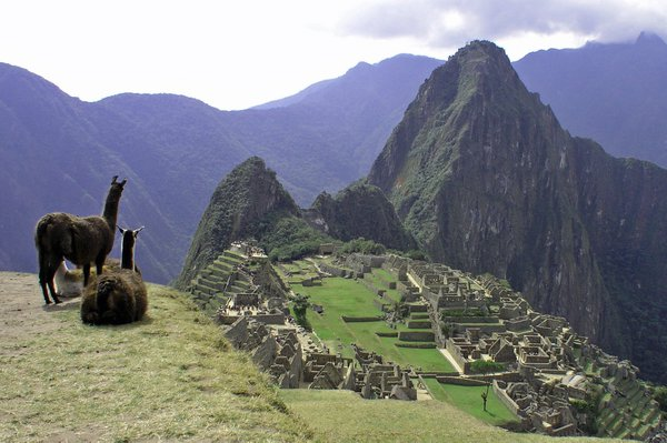 Machu Picchu unfolds. One of the new seven wonders of the world. thumbnail