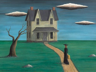 Coming Home, a 1947 painting purportedly by Gertrude Abercrombie, is one of the works now suspected to be a forgery.