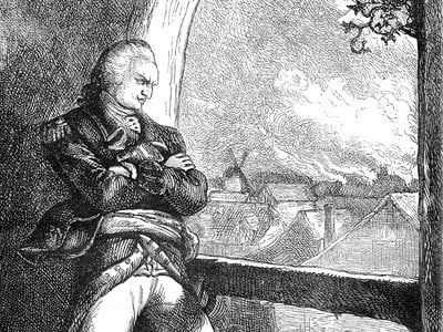 In 1781, Arnold ordered British troops to burn New London, Connecticut.