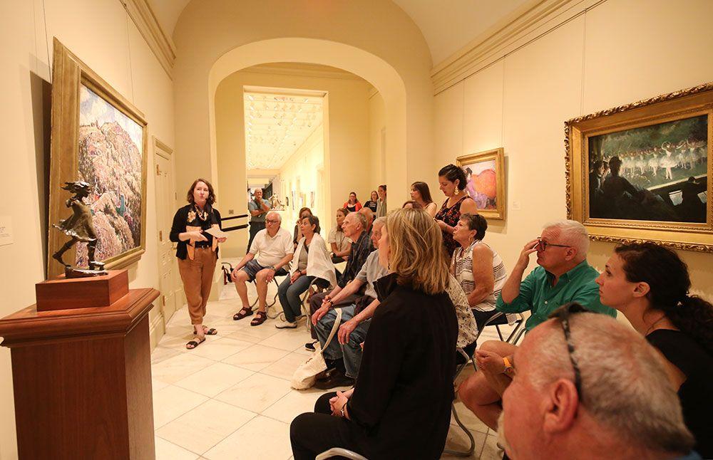 Michaela Rife leading her gallery talk.