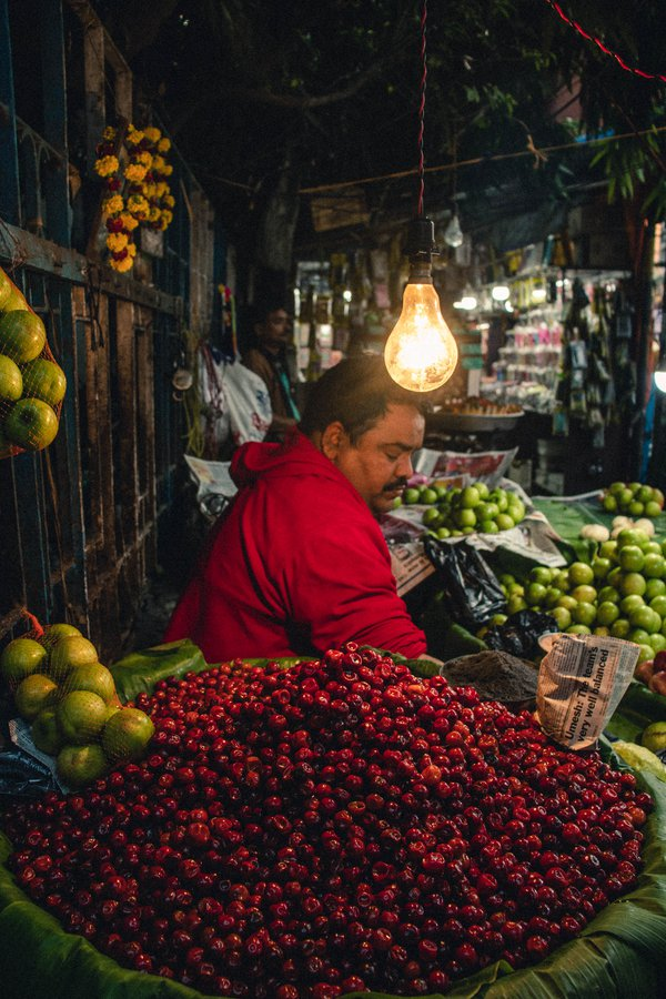 A fruit seller and his cherries thumbnail
