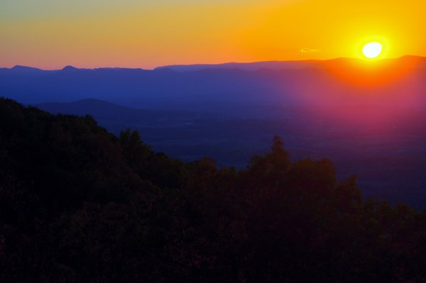 Sunset Over Skyline Drive thumbnail