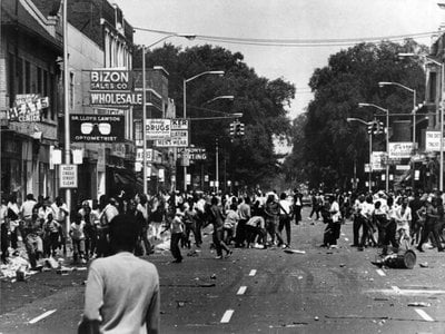 Scene from the 1967 Detroit riot.