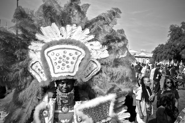 Mardi Gras Indian at Super Sunday, New Orleans (2) thumbnail