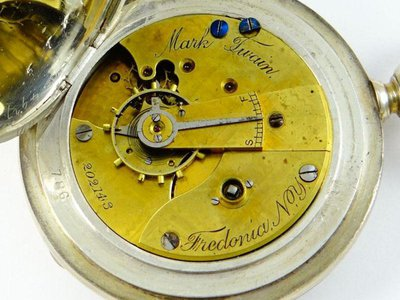 """The """"Mark Twain"""" launched in early 1882 as an 18-size, key-wound movement with a subsidiary seconds function."""