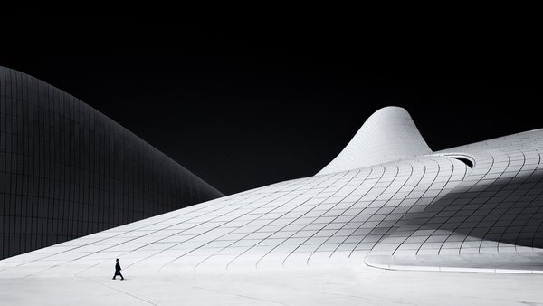 The Heydar Aliyev Cultural Center is one of the most eye catching and striking architectural buildings in the rapidly developing capital of Azerbaijan.