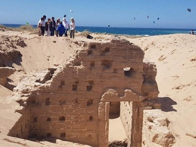 View of the remarkably well-preserved wall of a Roman-era bath complex—one of many remarkable discoveries recently announced by the University of Cádiz in southeastern Spain