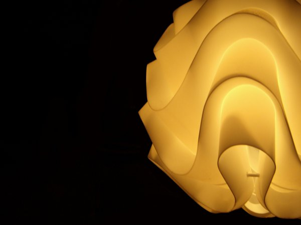Isolated close up of a decorative lamp. thumbnail