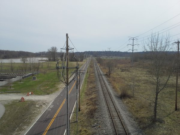 A view from above the tracks. thumbnail