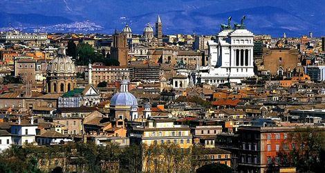 View from Piazza Garibaldi in Rome