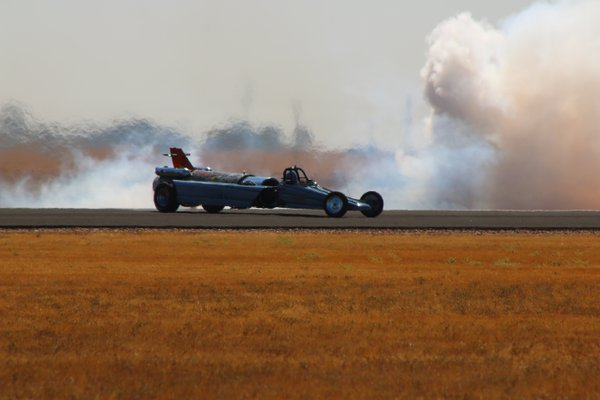 Smoking Jet Car at the California Capital Airshow thumbnail