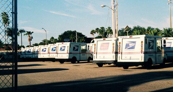 Mail Trucks in the Yard thumbnail