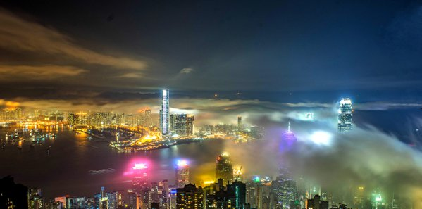 Victoria Harbour-colored cloud of fog 2016 thumbnail