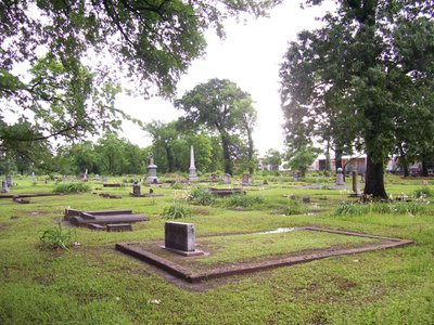 The Olivewood Cemetery in Houston, Texas, is at risk of flooding and erosion. Newly announced grants will help fund a drainage plan to prevent further damage to the graveyard.