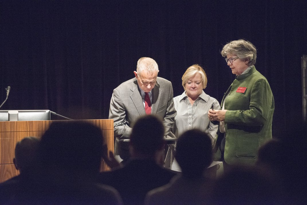 Matt Shepard's parents signing deed of gift with curator