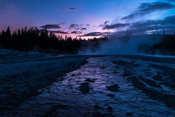Fading Light on West Thumb Geyser Basin thumbnail