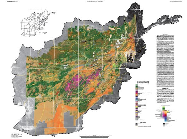 A map of Afghanistan's resources