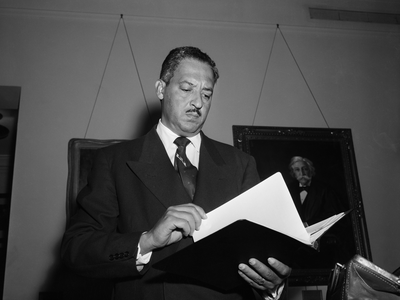 Thurgood Marshall's work challenging school segregation in Hearne, Texas laid the groundwork for the pivotal Brown v. Board of Education case.