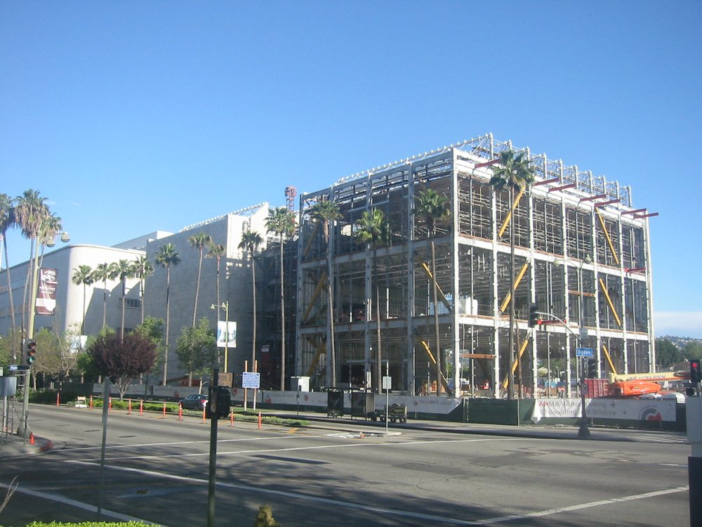 Los Angeles County Museum of Art, Broad Contemporary Art Museum building under construction