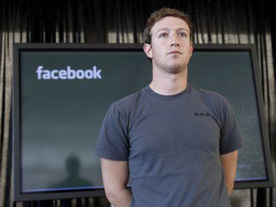 A file photo of Facebook founder Mark Zuckerberg from November 2010.