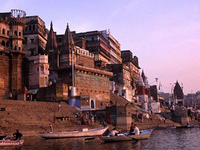 Nearly 2.5 million people come each year to Varanasi which sits on the banks of the most sacred Indian river.