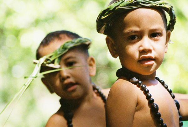 Marquesan Twins In Traditional Festive Attire thumbnail
