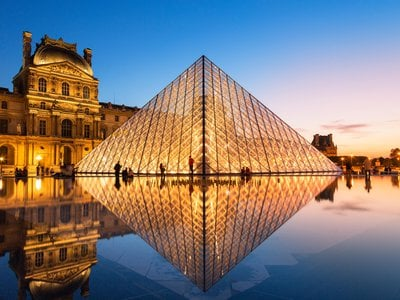 The Louvre Pyramid is arguably the architect's best-known work.