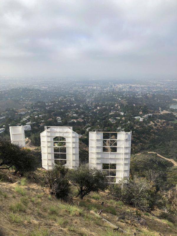 The hollywood sign to LA thumbnail