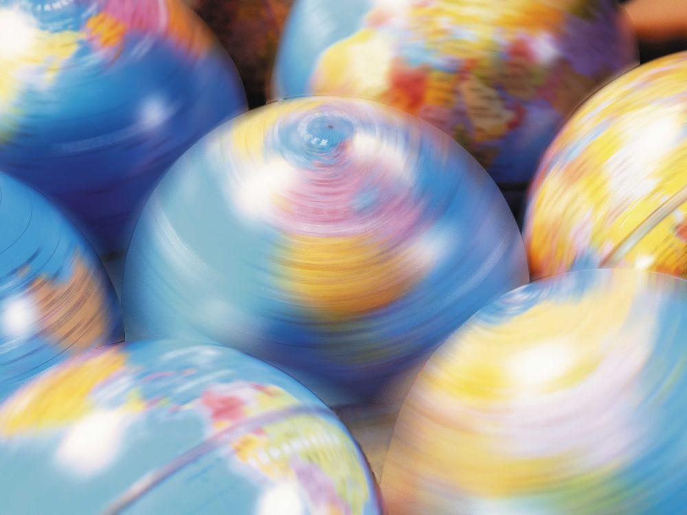 Globes Spinning