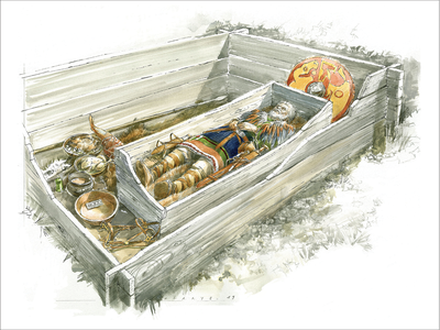 People who reopened graves might take items like swords and brooches but leave more valuable objects untouched.