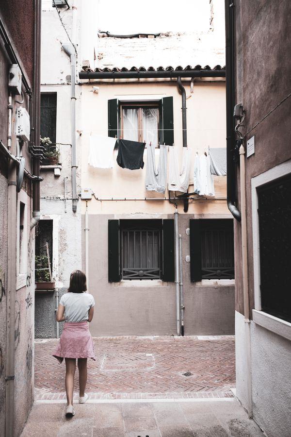 My daughter Madi walking the streets of Venice. thumbnail