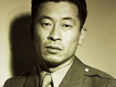 U.S. Army Air Force technical sergeant Ben Kuroki, completed a total of 58 combat missions and was awarded three Distinguished Flying Crosses and the Air Medal with five oak leaf clusters.