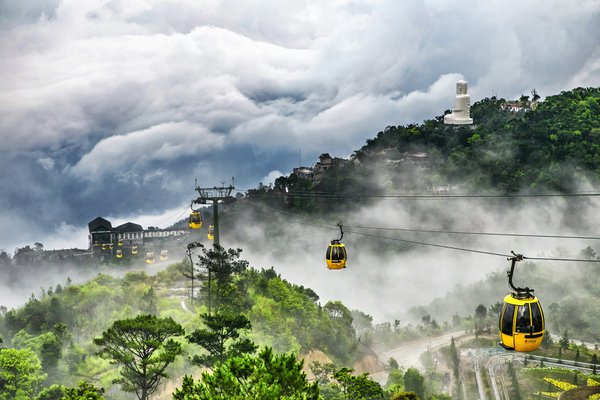 Ba Na Hill Station in Danang, Vietnam was founded in 1919 by French colonists. The Ba Na Cable Car opened in 2013,  the world record for longest  non-stop single track cable car at 5801 metres in leng thumbnail