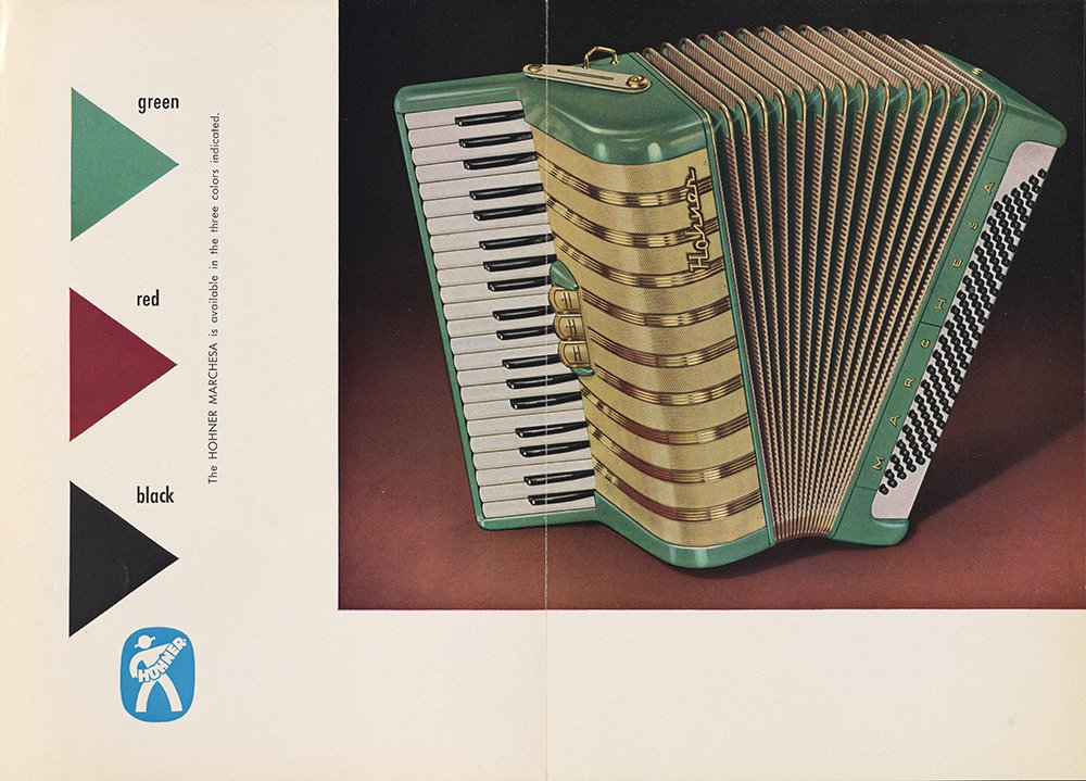 Brochure for the M. Hohner Marchesa model accordion.