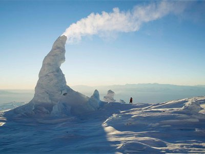 Seemingly dreamed up by Dr. Seuss, Mount Erebus' improbable ice towers form around steaming vents, growing up to 60 feet before collapsing.