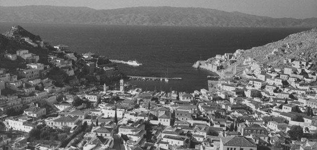 A view of the Greek island Hydra