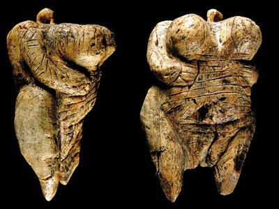 """The """"Venus of Hohle Fels"""" is a 40,000-year-old figurine and is so small it could be hidden in your fist."""