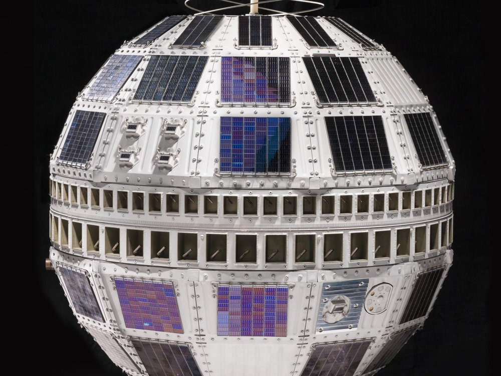 Backup spacecraft for Telstar, the world's first active communications satellite.  Telstar 1 began an era of live international television. After its launch on July 10, 1962, it relayed television images between the United States and France and England.