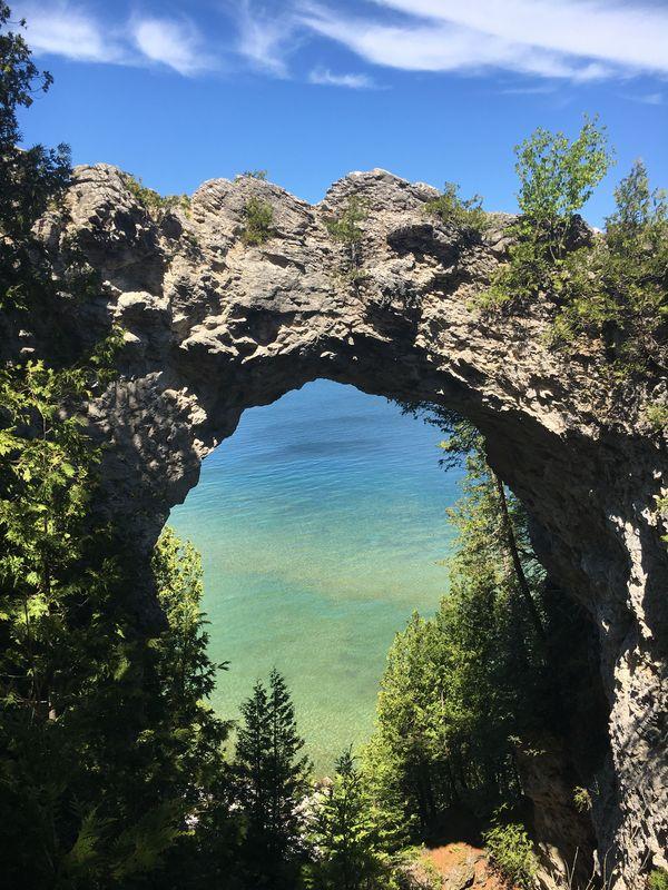 A Beautiful Day At Arch Rock thumbnail