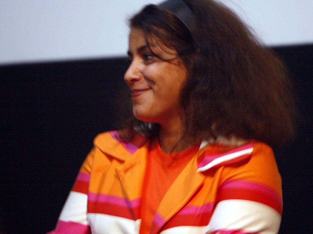 Marjane Satrapi during a premiere of her film Persepolis