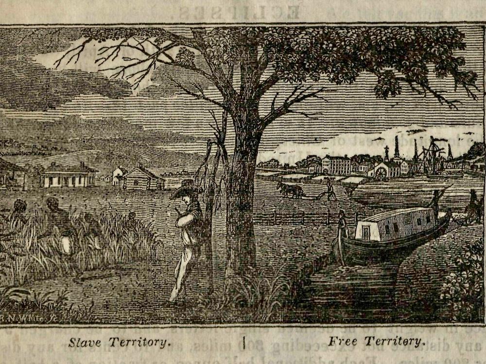 Free State Slave State Illustration