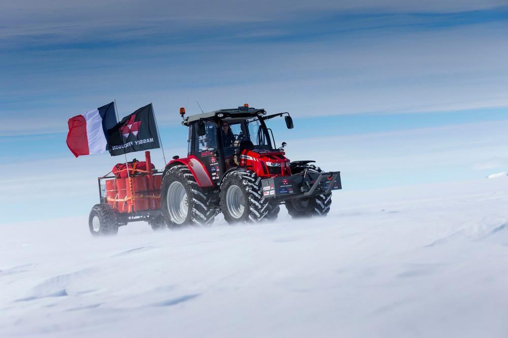 Tractor in Antarctica