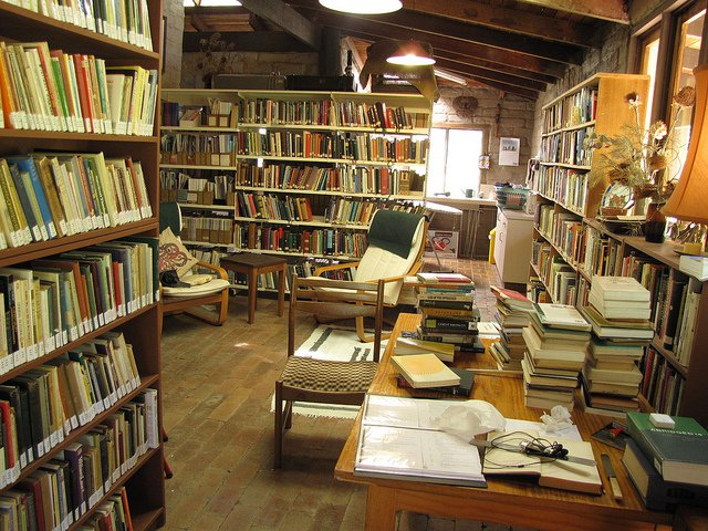 The library Hermitage of St. Bernardine, in Stroud, New South Wales.