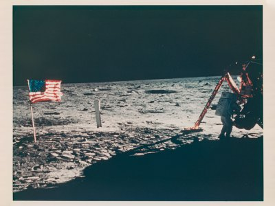 The only photograph of Neil Armstrong on the moon resurfaced in the 1980s after years of obscurity.