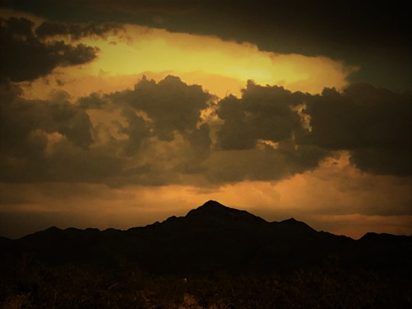 Scene from my front door, after a storm in the desert thumbnail