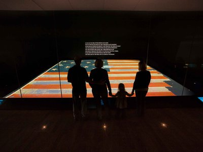 One of the Smithsonian Institution's most visited artifacts is the 209-year-old Star-Spangled Banner, the inspiration for the National Anthem.