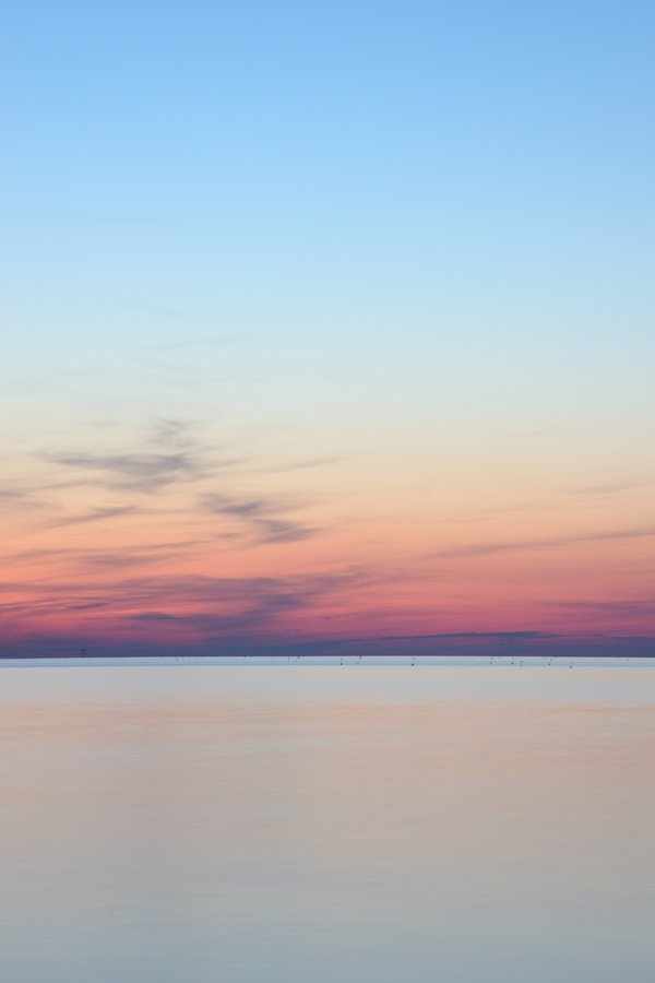 Smooth waters at sunset thumbnail