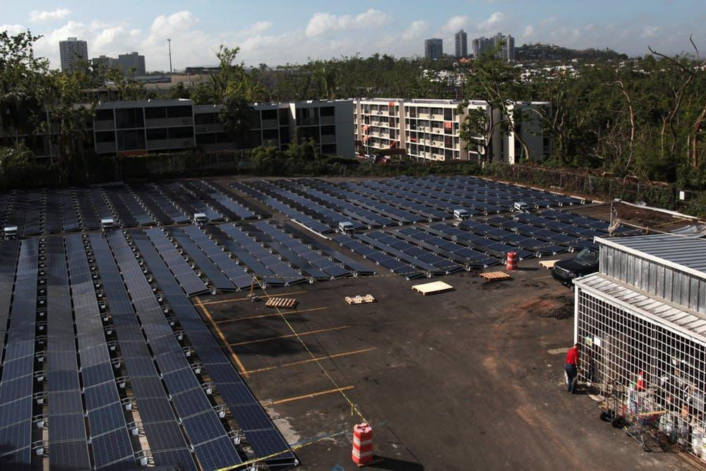 solar and battery-powered microgrid