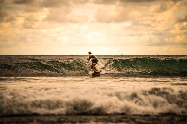 Boy in Costa Rican Surf thumbnail