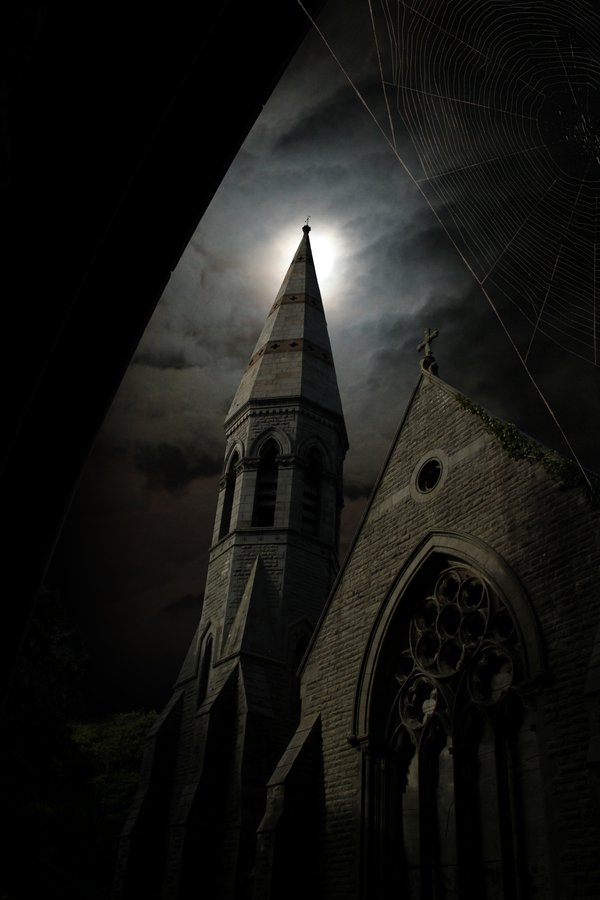 moonlit church thumbnail